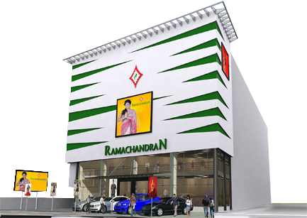 Ramachandran textiles Attakulangara - New Showroom